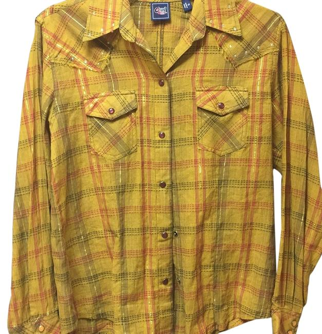 Item - Button-down Top Size 6 (S)