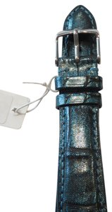 Michele Nwt Michele Authentic Black And Teal Alligator Leather 20MM Watch Band