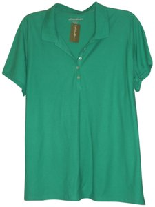 Eddie Bauer T Shirt Kelly Green Polo 3x, fits like 26/28