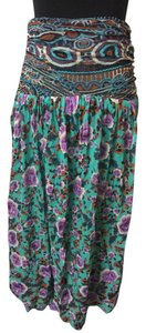 Jean-Paul Gaultier Maxi Skirt green,purple,