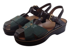Marni Brown and green Sandals