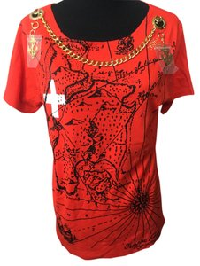 JC de Castelbajac T Shirt red