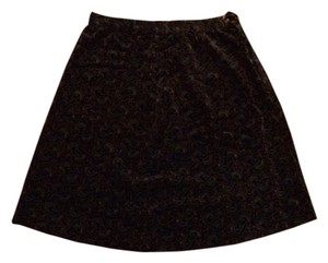 Other Velvet Paisley Mini Skirt Multi: Brown/Green/Blue