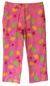Lilly Pulitzer Capri Size 8 Fruit Capri/Cropped Pants Orange yellow green pink