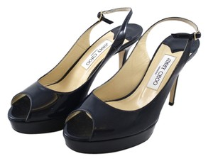 Jimmy Choo Patent Navy Pumps