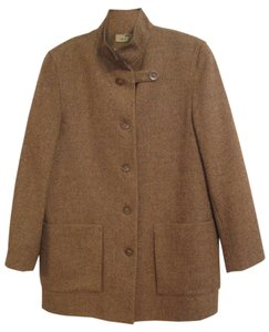 Other Hunting Country Preppy Brown Herringbone Jacket
