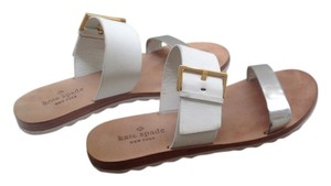 Kate Spade Silver and white Sandals