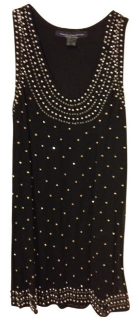 Preload https://item3.tradesy.com/images/french-connection-black-tunic-with-embellished-silver-studs-above-knee-cocktail-dress-size-2-xs-13007-0-0.jpg?width=400&height=650
