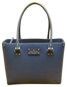 Kate Spade Leather Stylish Tote in Omega Blue