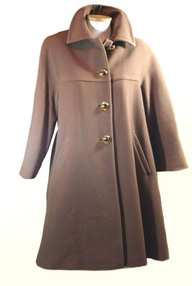 professional website cheap sale thoughts on Tan Camel Gaetanao Tagliente Italy Virgin Wool Swing Coat Size 6 (S)