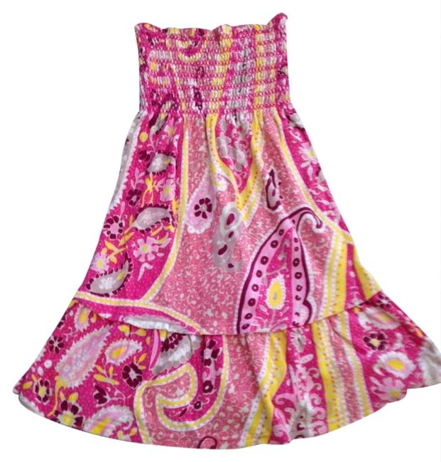 Item - Pink Yellow Beach Cover Cover-up/Sarong Size 4 (S)