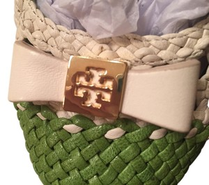 Tory Burch Ivory/green Flats