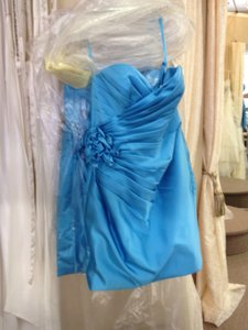 Allure Bridals Aqua Blue Bridesmaid/Mob Dress Size 6 (S)