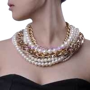 New York Jeweler Multi Strain Chain & Pearl Necklace