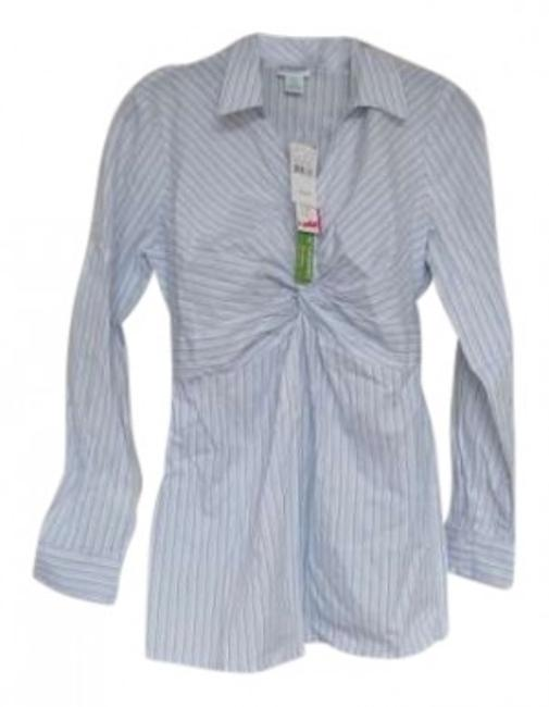 Preload https://item4.tradesy.com/images/motherhood-maternity-white-with-light-blue-stripes-great-for-the-office-maternity-button-down-top-si-130133-0-0.jpg?width=400&height=650