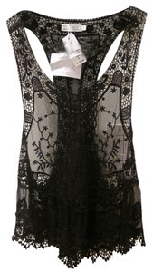 Story of Lola Lace Coachella Lollapalooza Racer-back Top Black