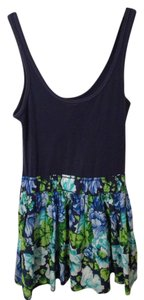 Abercrombie & Fitch short dress Navy Blue And Green Floral Dress on Tradesy