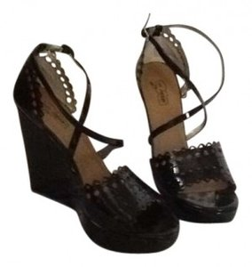 Oh Deer! Black Wedges