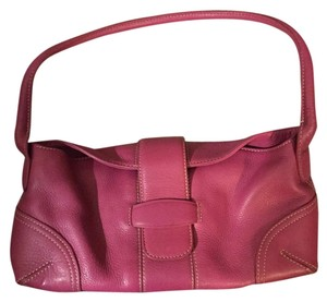 Ann Taylor Leather Pink Shoulder Bag