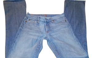 7 For All Mankind Designer Boot Cut Jeans-Light Wash