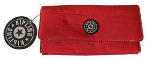 "Kipling Red Nylon Kipling ""Brownie"" Large Organizer Wallet"
