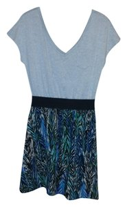 Xhilaration short dress Heather Gray & Multi bottom V-neck Comfortable Flowy on Tradesy