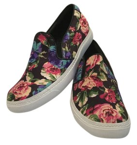 Jeffrey Campbell Leather Lining Floral Pattern Multi color Athletic