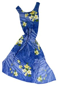 floral print, blue, green, yellow Maxi Dress by trends