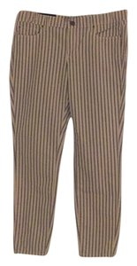 Ann Taylor Skinny Pants White with blue stripes