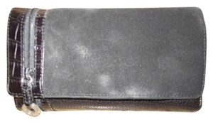 Brighton Brighton black leather and suede wallet
