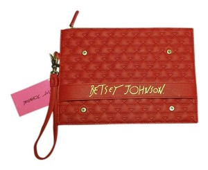 Betsey Johnson Ville red Clutch