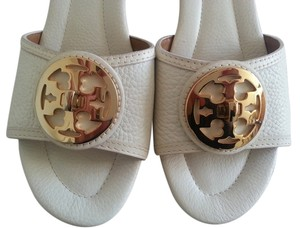 Tory Burch Leather White Cream Wedges