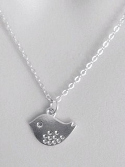Other New Spotted Bird Sterling Silver Necklace - Everyday Jewelry, GIft, Simple Dainty Necklace