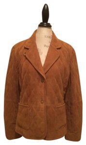 Brooks Brothers Tan/cognac Leather Jacket