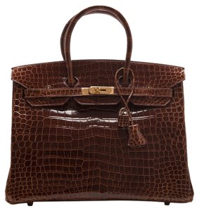 Herms Crocodile Birkin Tote