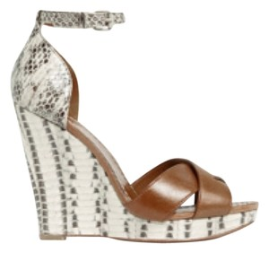 Tory Burch Brown/off white Wedges