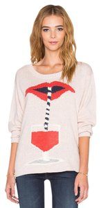 Wildfox Knitted Cropped Light Pink Sweater