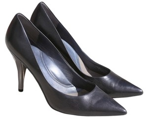 Kenneth Cole Leather Silver black Pumps