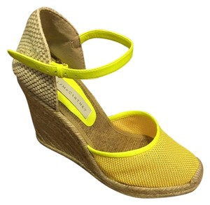 Stella McCartney yellow Wedges