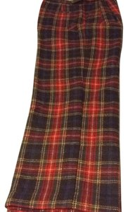 Liz Claiborne Trouser Pants Red plaid