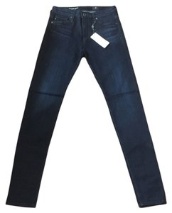 AG Adriano Goldschmied Skinny High Waisted High Rise Skinny Jeans-Dark Rinse