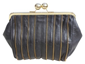 CC SKYE Leather Zippers black Clutch