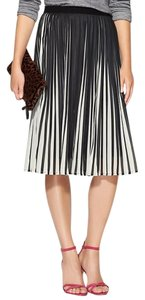 C. Luce Midi Fall Skirt Black and white