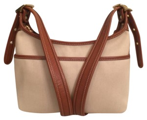 Coach Canvas Leather Vintage Hobo Messenger Cross Body Bag