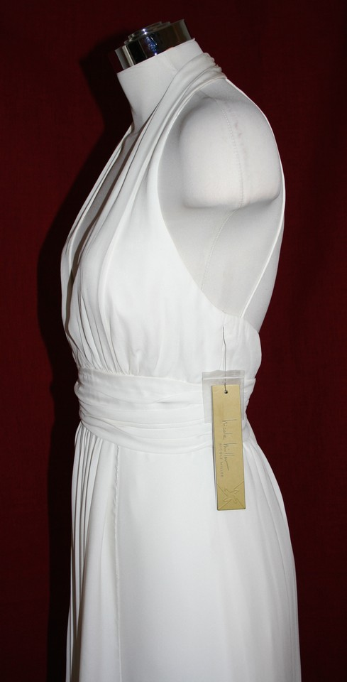 41ed093d50b19 Nicole Miller Bridal Antique White Silk Grecian Inspired Gown Fa0028 Feminine  Wedding Dress Size 16 (XL