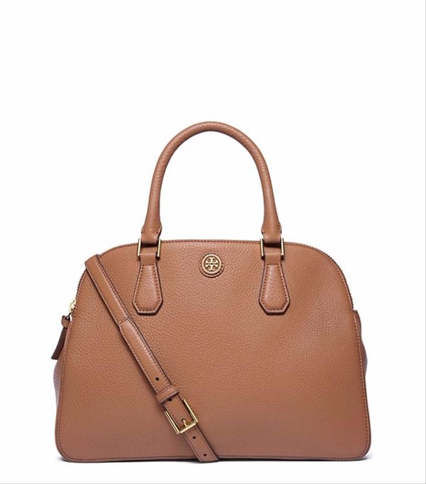 Tigers Eye Burch Robinson Double Leather Zip Pebbled Satchel Tory zPqXw