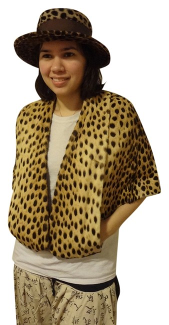Other Vintage Genuine Fur Leopard Cheetah Cape