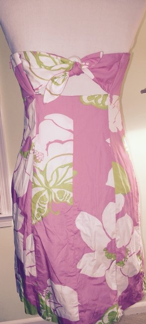 Lilly Pulitzer short dress Pink Green White on Tradesy