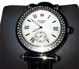 Michele Michele Limited & Special Edition Diamond & Onyx Caber Watch