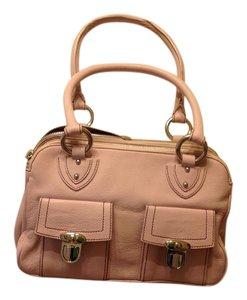 Marc Jacobs Leather Satchel in Baby Pink